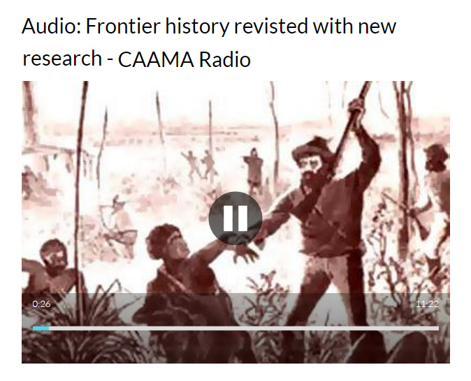 Audio- Frontier history revisted with new research - CAAMA Radio