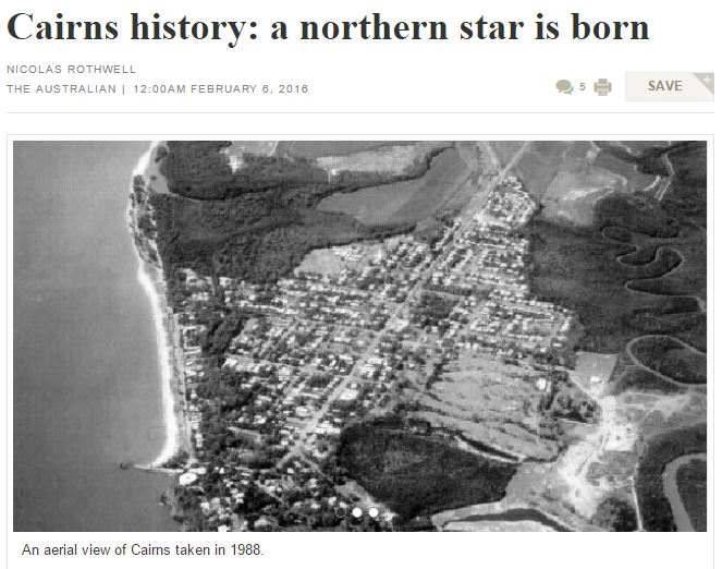 Cairns history- a northern star is born