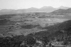 1942 view of the Barron River coastal plain from newly constructed Range Road